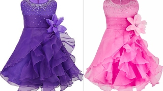 How to make latest quinceanera ruffled organza party wear with rhinestones (Hindi Version)