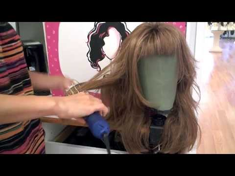 How to Use the Hot Air Brush on Your Synthetic Wigs. Smooth Bangs. Defrizz and More!