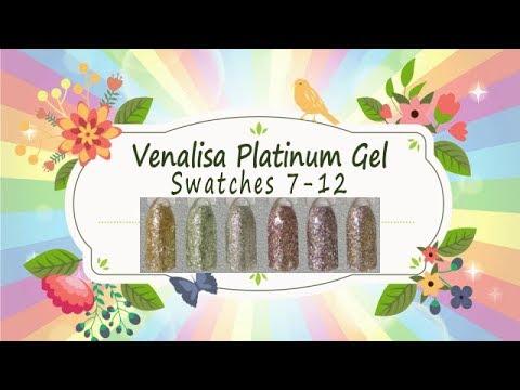 Canni Venalisa Platinum Glitter Gel Swatches - SPARKLY! Pt  2