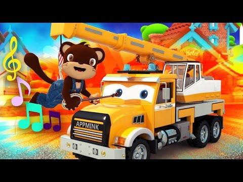 Toy Crane Truck Come To Life - Construction Toy Children's Animation