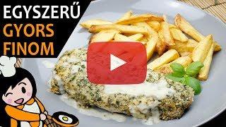 Töltött csirkemell mustáros besamellel - Recept Videók