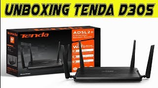 Tenda D305 4 Antennas Router Unboxing - أنبوكسينغ