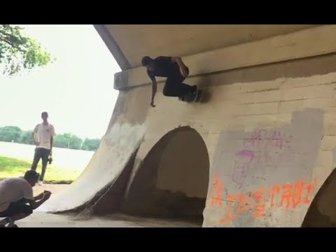 INSTABLAST! - Burnside Pillar Yank!! 360 Flip Into Swimming Pool Ride Away!! Crazy Doorway Carve!!