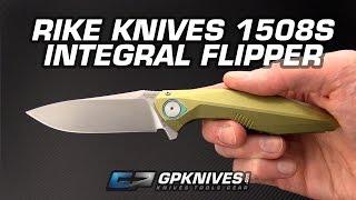 Rike 1508s Integral Frame Lock Flipper Overview