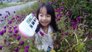 bé học đàn pirano - Organ   Ngoc Han BKT