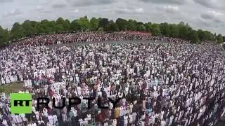 UK: Drone footage shows thousands of Muslim celebrating Eid in Birmingham