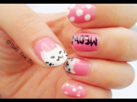 Pretty Kitty Cat Nail Art