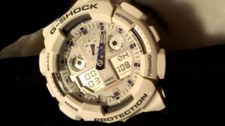 Настройка часов/стрелок Casio G-Shock GA-100 (GA-110) Set up