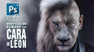 Tutorial Manipulación Photoshop humano con cabeza de león by @ildefonsosegura