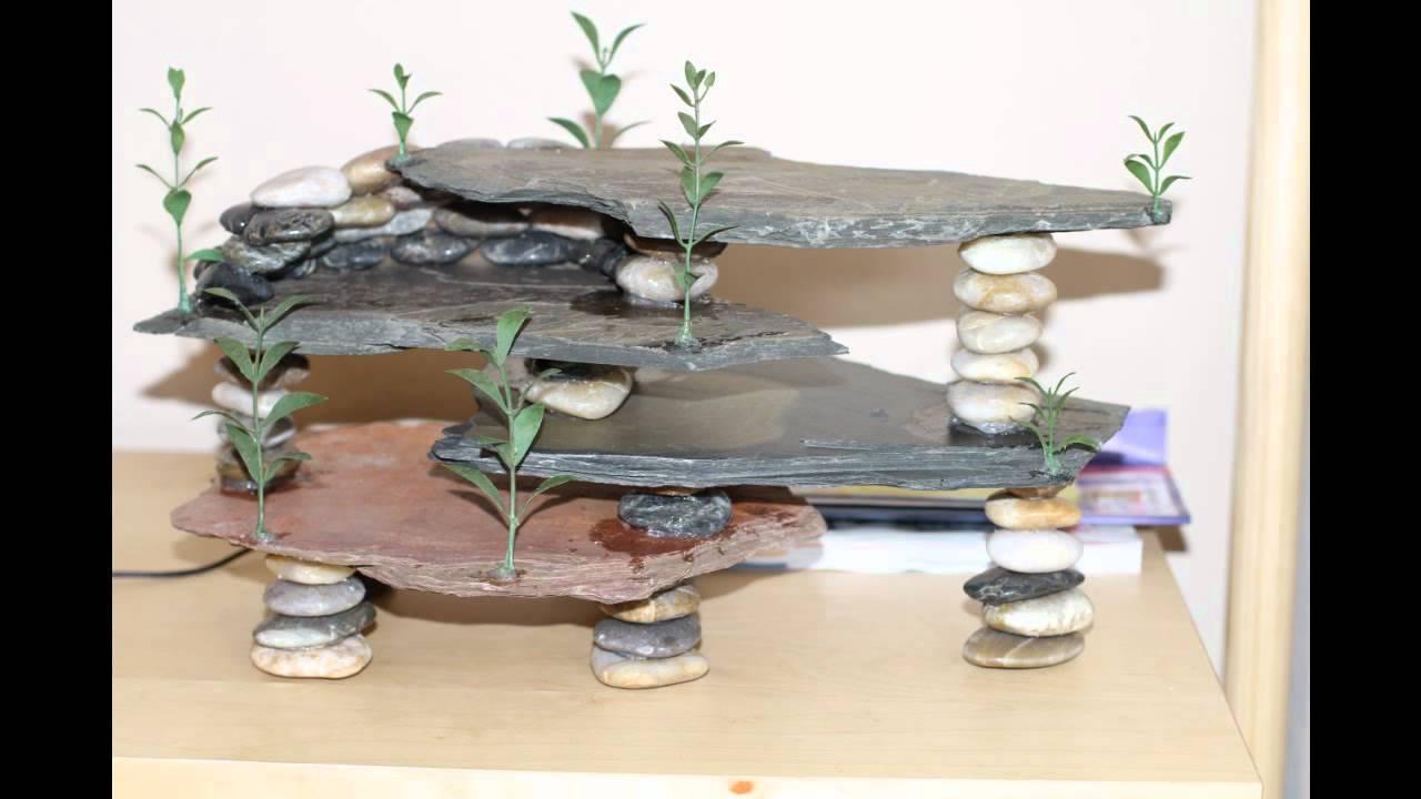 Diy aquarium project slate youtube for Aquarium decoration rocks