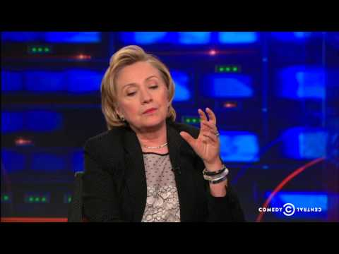 Hillary Clinton Interview about Israel and Gaza | The Daily Show Exclusive | Part 2