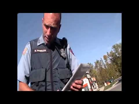 Cop cant comprehend being questioned contradicts himself