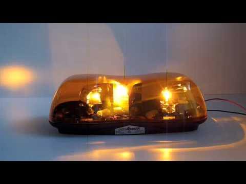 Code 3 PSE Amber Aerodynamic Rotator Mini Bar
