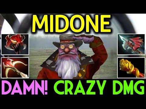 MIDONE Dota 2 [Sniper] Damn! Crazy Damage | Insane Build