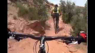 Mountain biking near Moab, Utah. Moab - культовое место американского маунтинбайка.