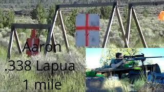 1 mile - 6.5 Creedmoor vs .338 Lapua - Sub MOA group - Long range shooting - ELR LRS