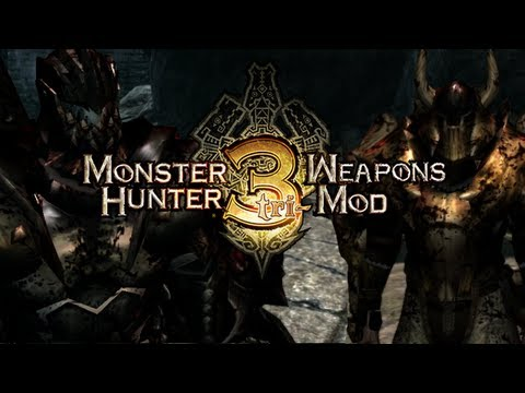 Skyrim Mods - Monster Hunter Weapons, Armor and Enemies