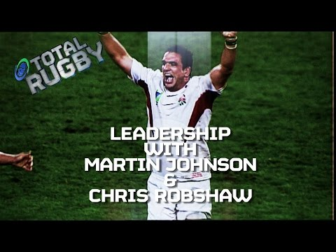 LEADERSHIP: Martin Johnson & Chris Robshaw