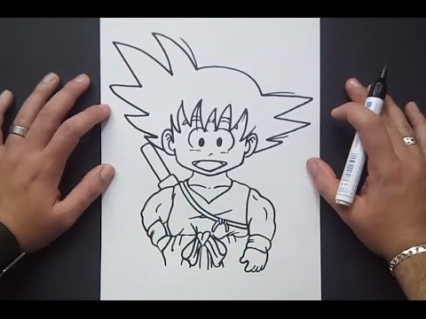 Como dibujar a Goku paso a paso 2 - Dragon ball | How to draw goku 2 - Dragon ball