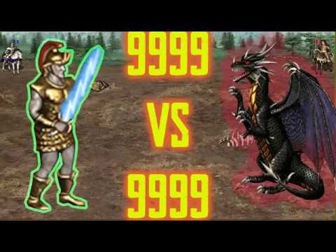 9999 Titans vs 9999 Black Dragons! Heroes 3! homm3 (heroes of might and magic 3)