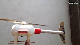 How to make a Helicopter with plastic bottle | Electric Helicopter