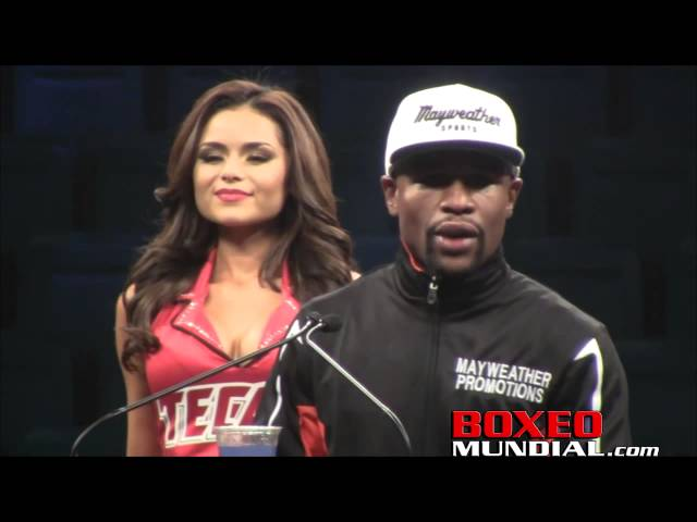 Floyd Mayweather talks Mayweather-Pacquiao at post fight press conference