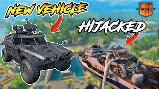 CoD BLACKOUT | **NEW** LANDiNG AT HiJACKED AND GETTiNG A KiLL WiTH THE NEW VEHiCLE!! (SOLO WiN)