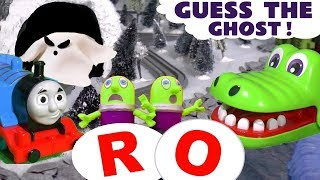 Thomas & Friends Guess The Ghost Learn Letters Game with Play Doh ABC and funny Funlings