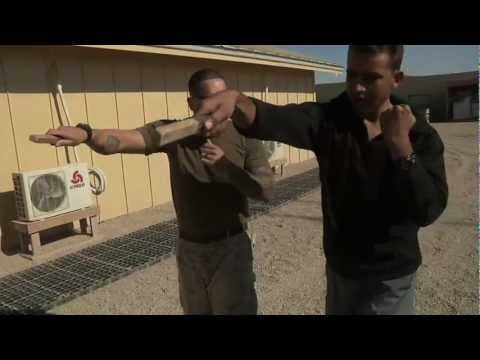 U.S. Marines instruct MCMAP Knife fighting to Afghan Security Detail
