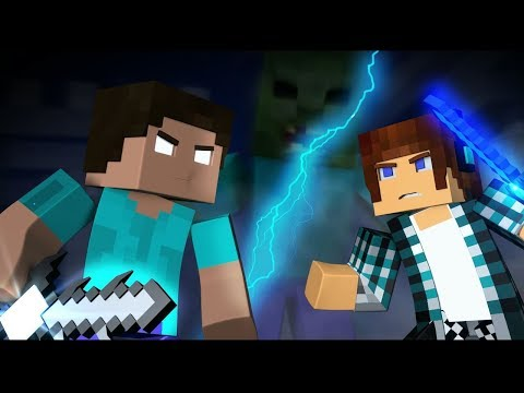 Minecraft: AUTHENTIC VS HEROBRINE !! ( Minecraft Animation )