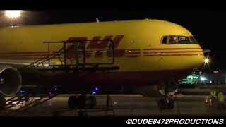 ABX Air (DHL) 767-281BDSF [N788AX] Parking at Calgary Airport ᴴᴰ