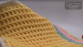 How to Crochet Front Post Double Crochet Stitch Squares