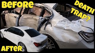 This Destroyed BMW was Completely Restored; but is it Dangerous? Arthur Tussik Repair Thoughts