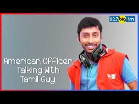 RJ பாலாஜி - RJ Balaji | American Officer Talking With Tamil Guy | Cross Talk