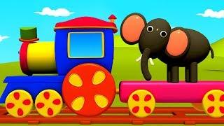 Animals Train   Bob The Train   Learning Videos For  Children   Kids Cartoon