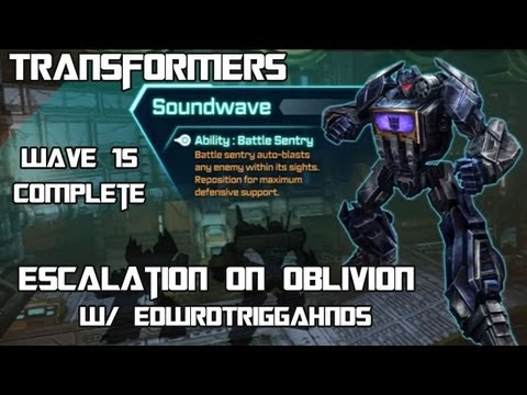 Transformers Fall of Cybertron - Escalation on Oblivion w/ Soundwave (Wave 15 Complete)