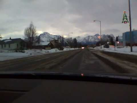 Driving into Palmer, AK from my Parents house Christmas Day 2009