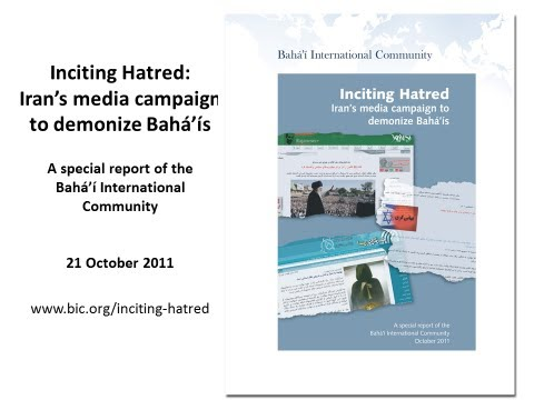 Inciting Hatred: Iran's media campaign to demonize Baha'is