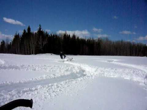 Boondocking Cold Lake Alberta, Some Nice Deep Snow,
