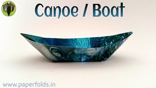 "Origami Tutorial to make a paper ""Canoe 