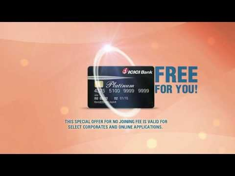 Icici Bank Plantinum Chip Credit Cards video