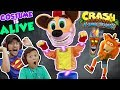 THE COSTUME IS ALIVE!!  FGTEEV DUDDY & MIKE play CRASH BANDIC...