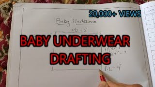 Baby underwear drafting