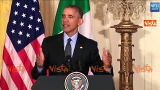 video (Agenzia VISTA) - WASHINGTON, 17 Aprile 2015 - Il Presidente del Consiglio Matteo Renzi in visita ufficiale negli USA incontra il Presidente degli Stati Uniti Barack Obama / DIRETTA WHITEHOUSE...
