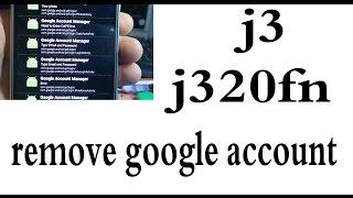 samsung j3 j320fn remove google account طريقة حذف حساب جوجل