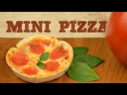 Mini Pizzas SIN HORNO Fácil | Receta para hacer pizzas en horno eléctrico o microondas