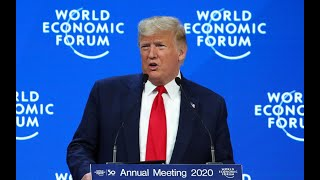 "Trump speaks in Davos: ""The tone of the speech very much in praise of his own economic policies"""