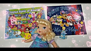 Jigsaw Puzzle with Disney Frozen Elsa Baby Doll & Princess Belle - Cinderella Toys Video for Kids