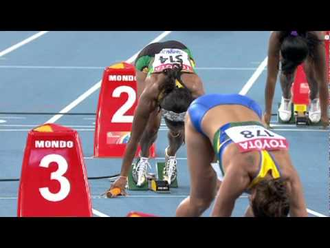 Women's 4x100m Relay Round 1 Heat 1 featuring Jamaica