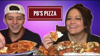 Mukbang | PB's Pizza! Would You Rather Q&A With Son! 💋
